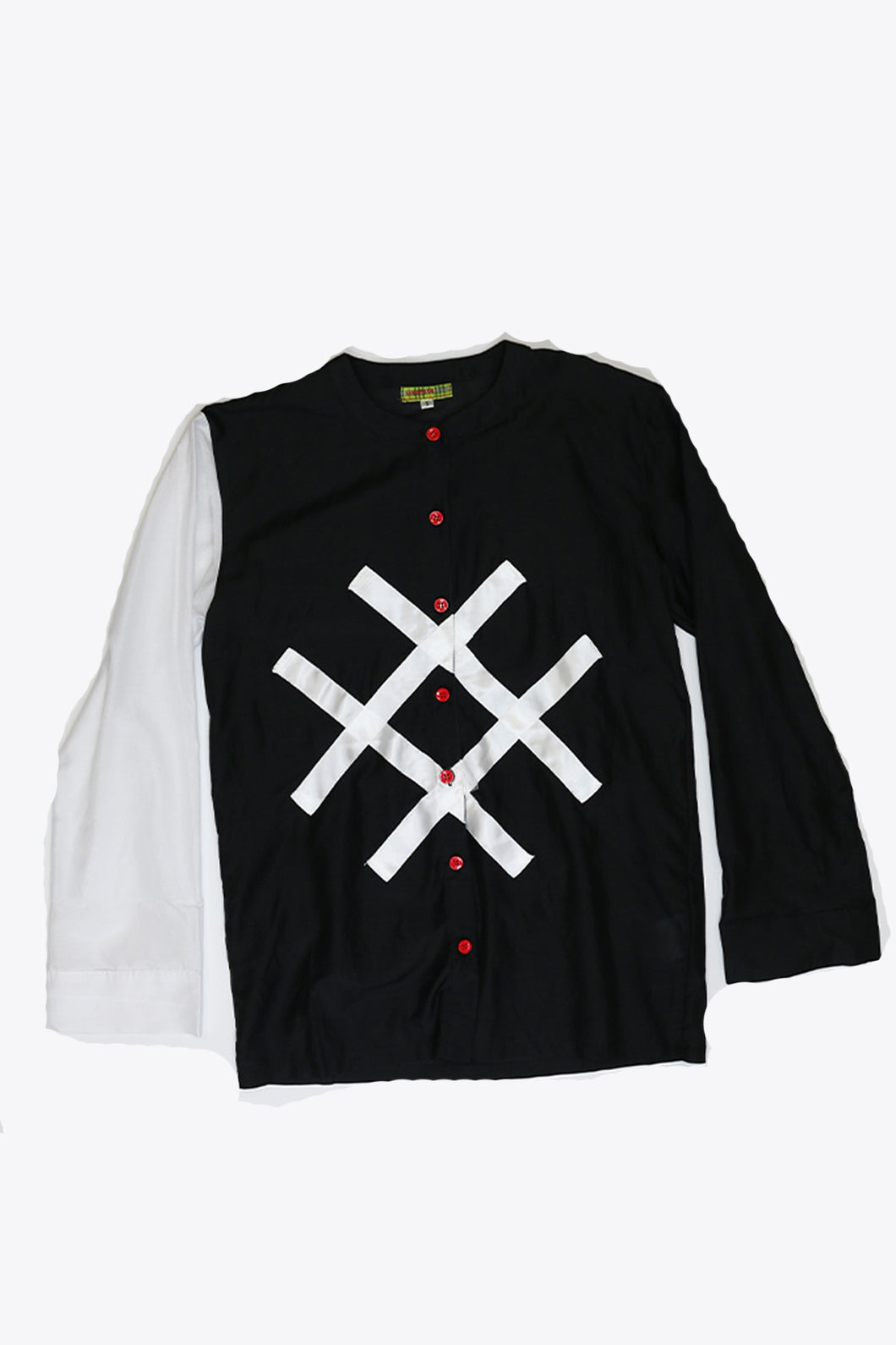 Logo Button Shirt Black