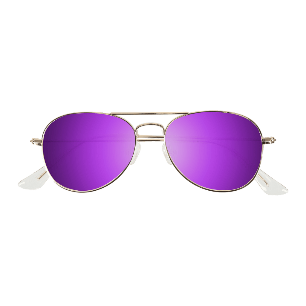 ORA II - GOLD SUNGLASSES SAINT REETS MIRRORED PURPLE