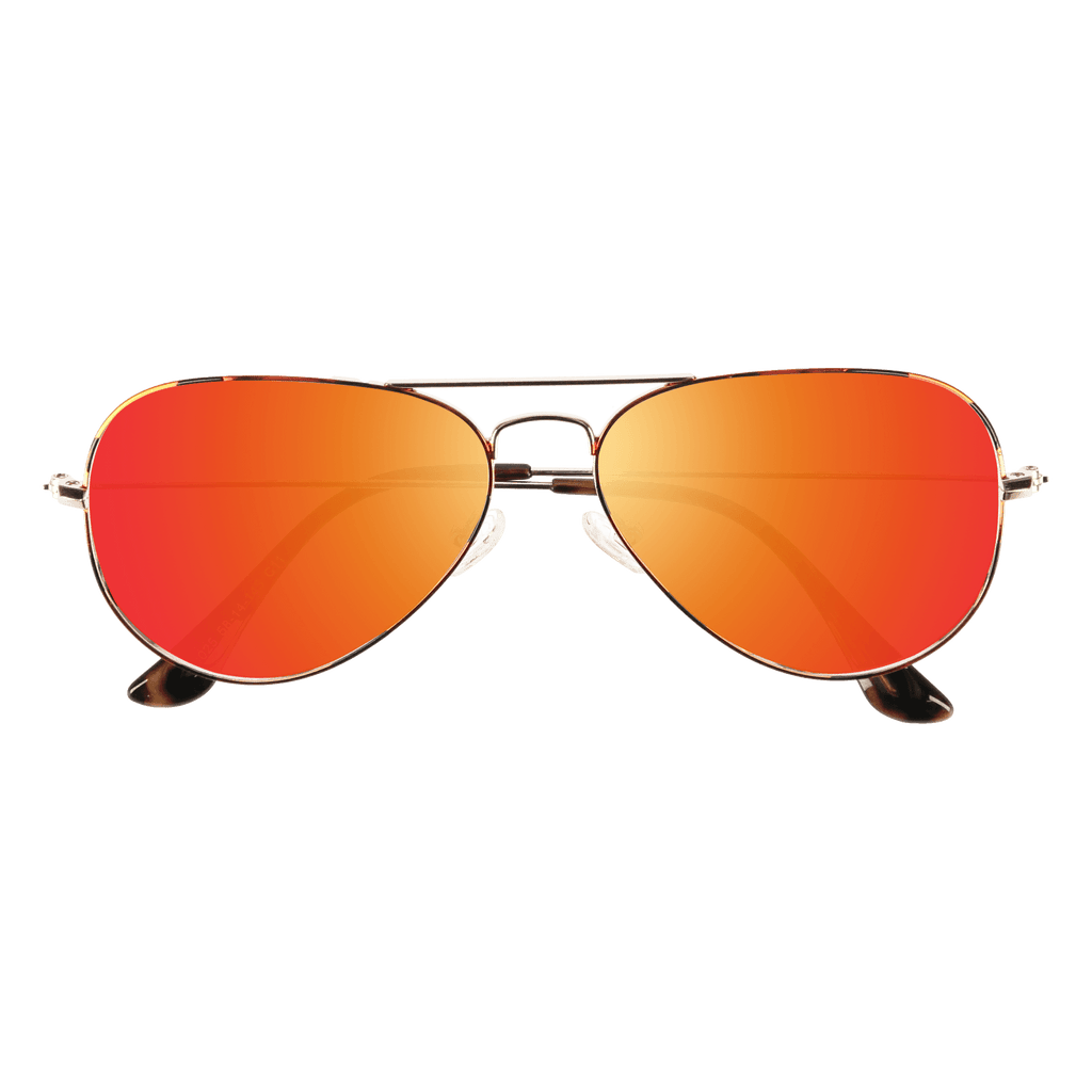 ORA - DEMI GOLD SUNGLASSES SAINT REETS ORANGE RUST MIRROR