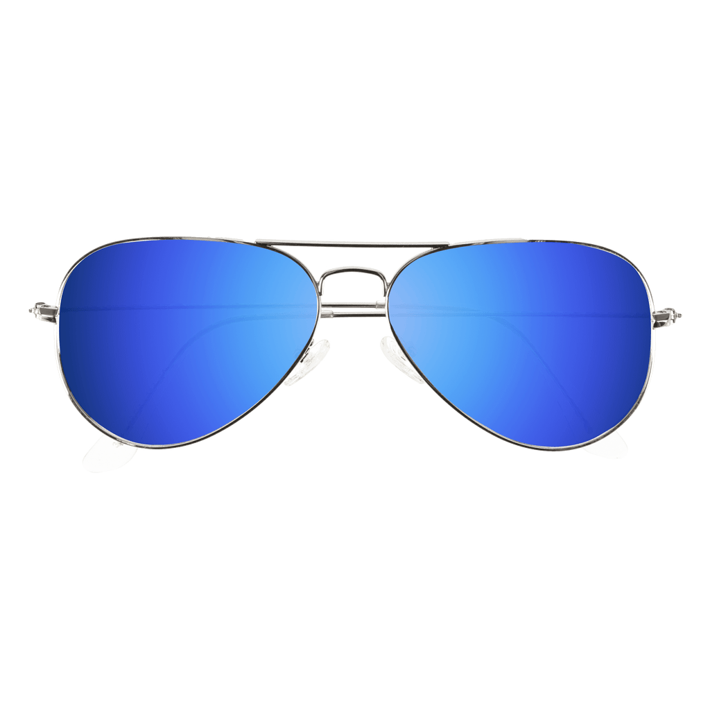 ORA - SILVER SUNGLASSES SAINT REETS ICE BLUE MIRROR