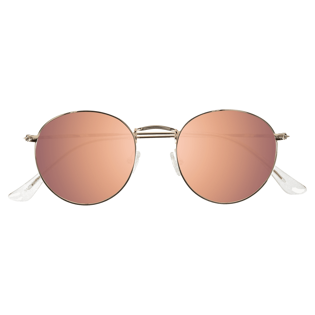 SPENCER - GOLD SUNGLASSES SAINT REETS MIRRORED PINK