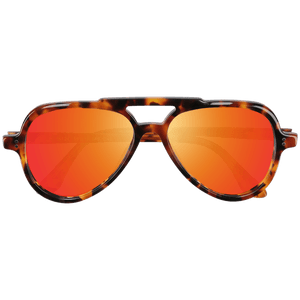EWING - AGATE TORTOISE SUNGLASSES SAINT REETS MIRRORED ORANGE RUST