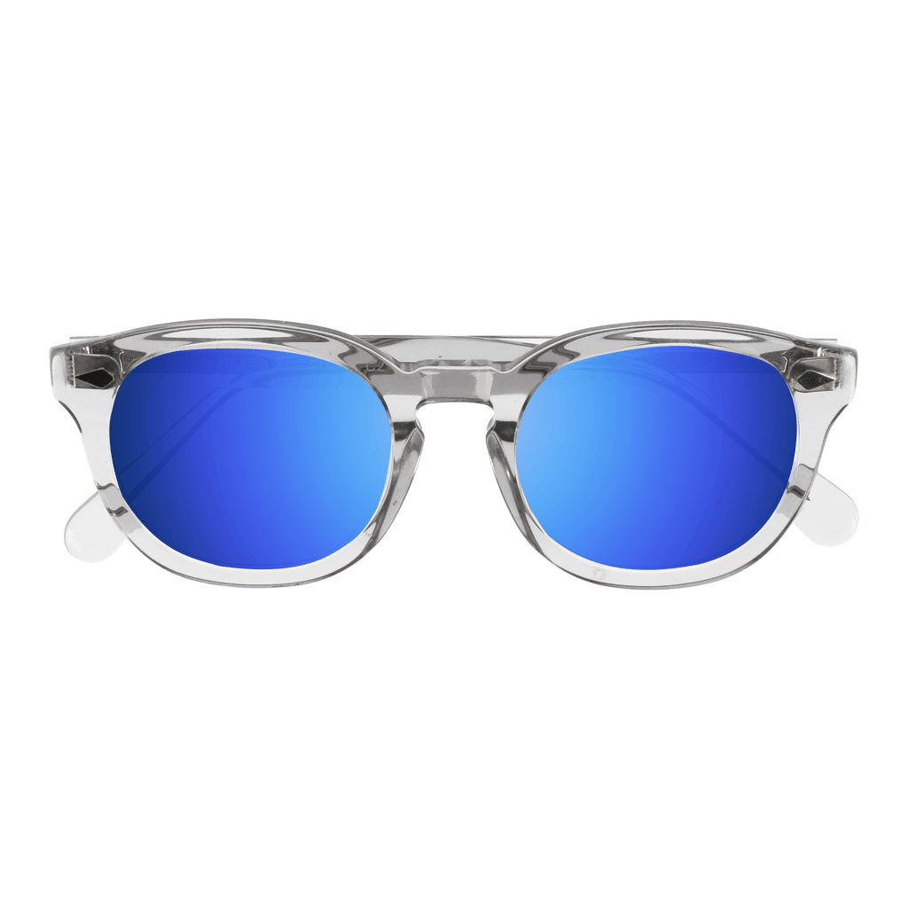 RANIER - CRYSTAL SUNGLASSES SAINT REETS MIRRORED DARK BLUE