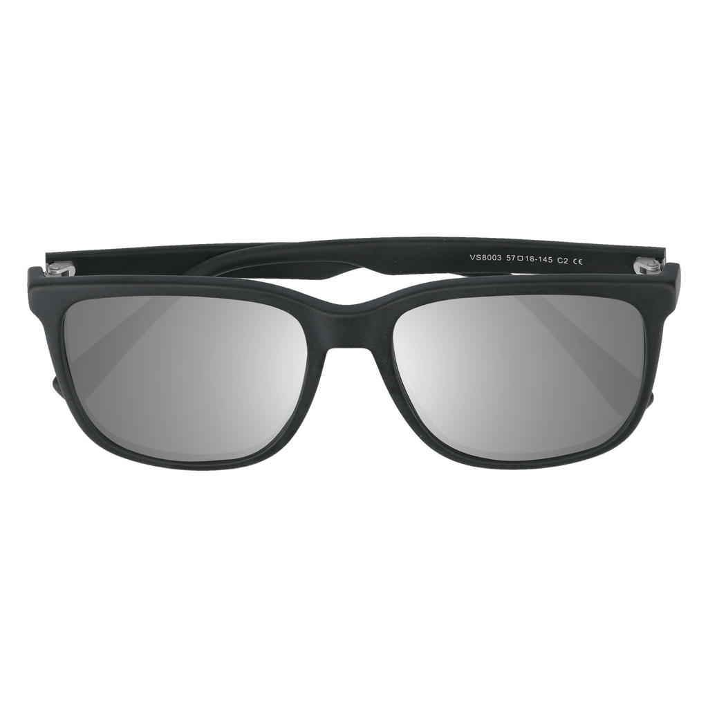 HOFFMAN - MATTE BLACK SUNGLASSES SAINT REETS MIRRORED SILVER