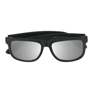 FLYNN - MATTE BLACK SUNGLASSES SAINT REETS MIRRORED SILVER
