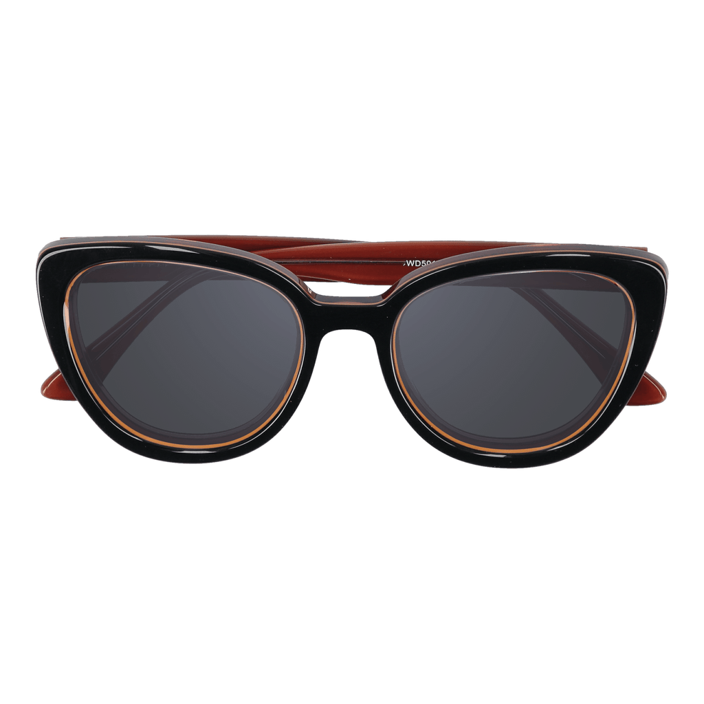 LA'JEAN - BLACK-BROWN SUNGLASSES SAINT REETS DARK GREY