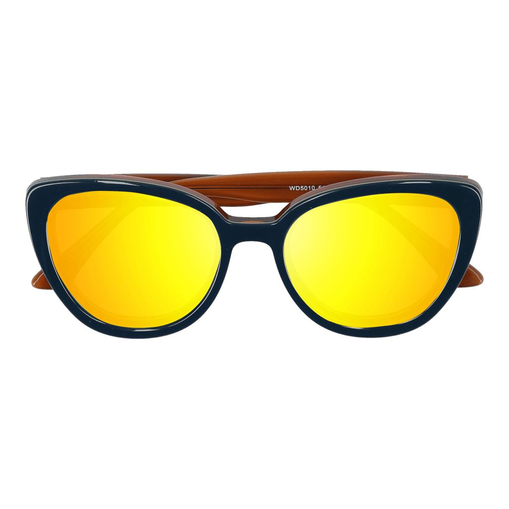 LA'JEAN - BLUE-YELLOW SUNGLASSES SAINT REETS MIRRORED GOLDEN