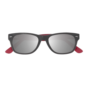 ELLIJAY - MATTE GREY-ROUGE SUNGLASSES SAINT REETS SILVER MIRRORED