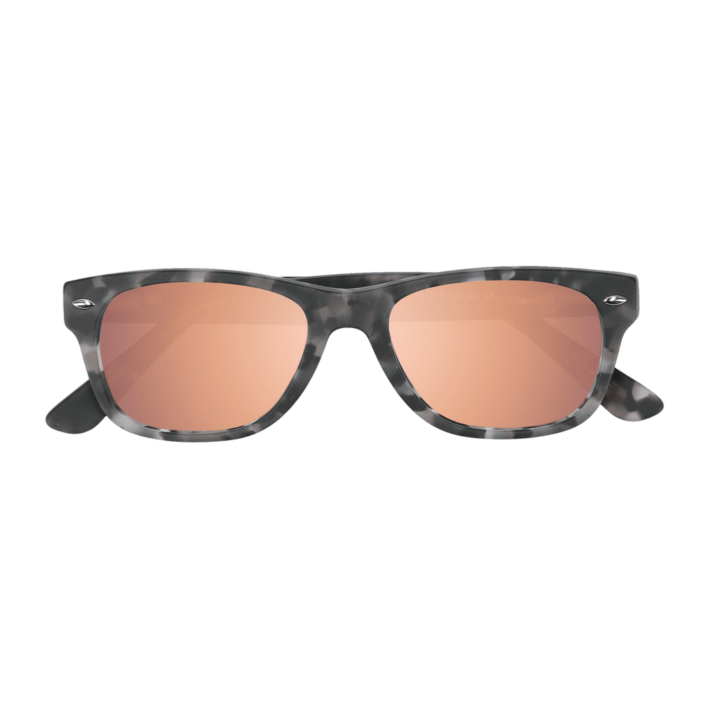 ELLIJAY - MATTE GREY TORT SUNGLASSES SAINT REETS MIRRORED PINK