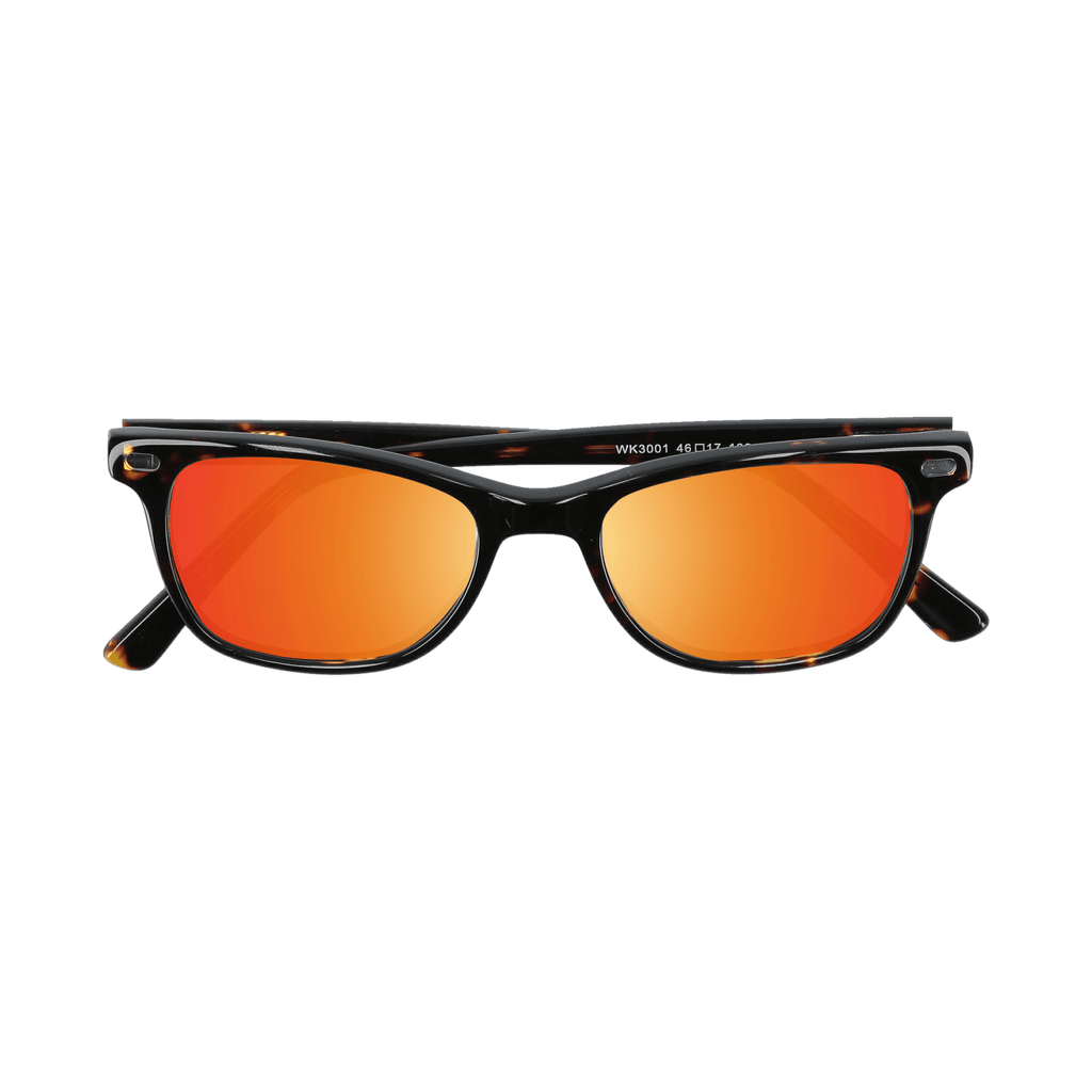 HUDSON - TORTOISE SUNGLASSES SAINT REETS MIRRORED ORANGE RUST