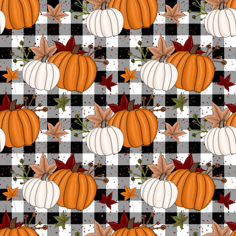 Gingham Pumpkins