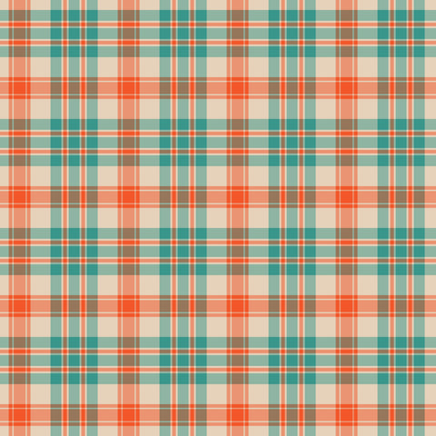 Teal & Orange Plaid