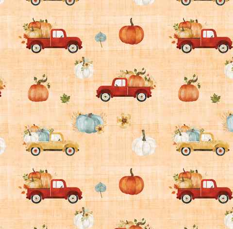 Watercolor Pumpkins & Trucks