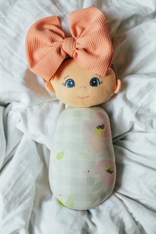 Gingham Floral Swaddle Doll