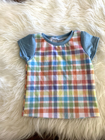 12m plaid tshirt