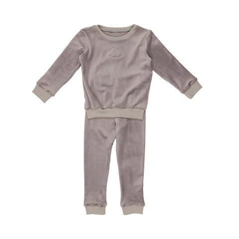 Pouf - Velour Set 12-18m Grey