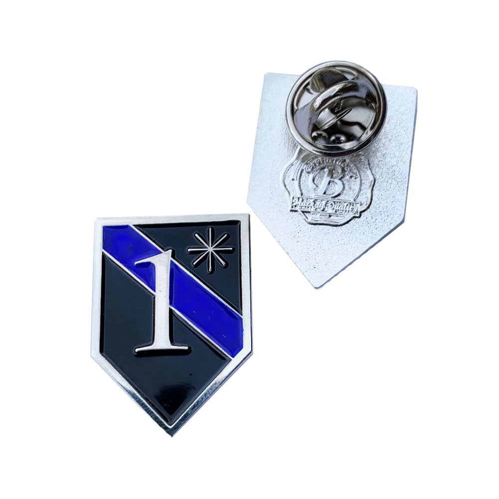 Thin Blue Line Police Sheriff One Ass To Risk 1* Shield Shape Metal Lapel Pin