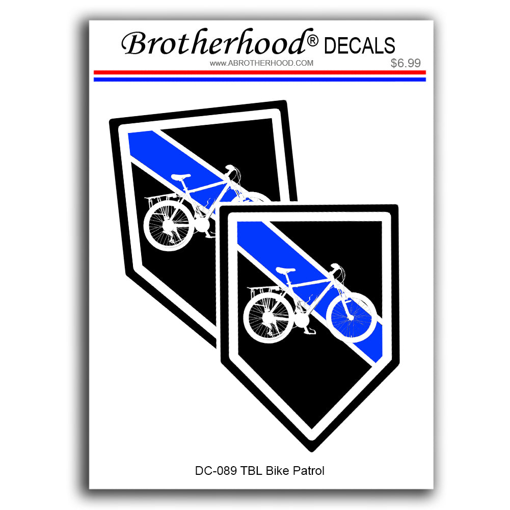 Thin Blue Line Police Sheriff Bicycle Unit Vinyl Decals