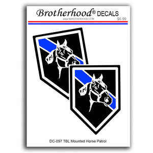 Police Sheriff Thin Blue Line Mounted Patrol Horses Unit Vinyl Decals