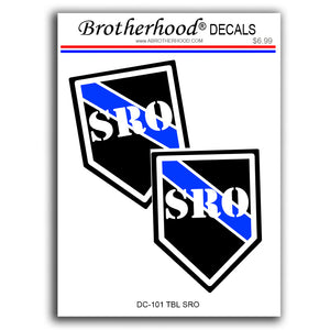 Police Sheriff Thin Blue Line SRO School Resource Officer To Risk Vinyl Decals