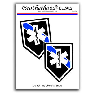 Police Sheriff Thin Blue Line EMS Star of Life Unit Vinyl Decals