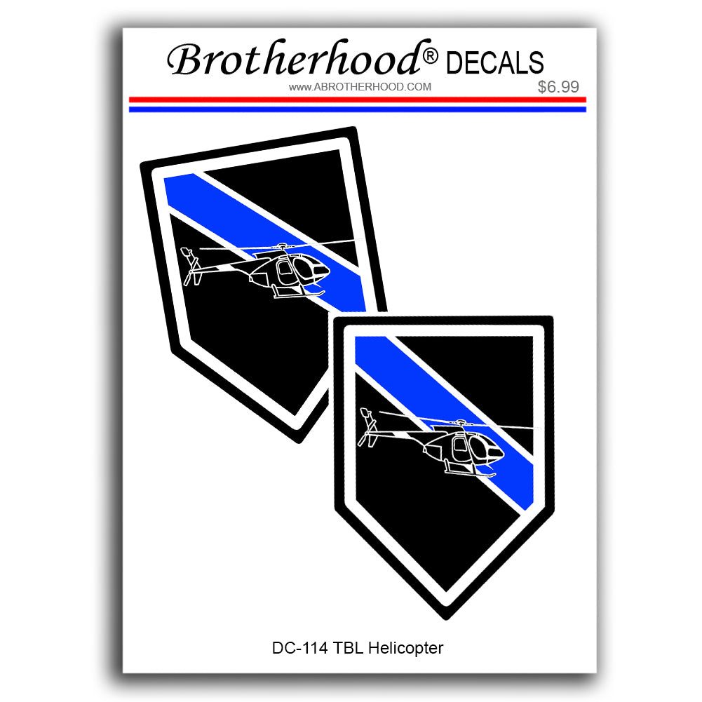 Police Sheriff Thin Blue Line Aviation Helicopter Unit Design Vinyl Decals