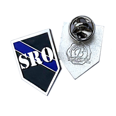 Thin Blue Line SRO School Resource Officer - Shield Shape Metal Lapel Pin