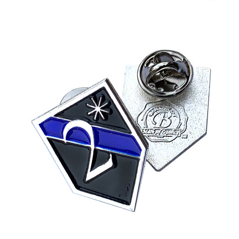 Thin Blue Line Police Sheriff Canine 2* Two Ass To Risk - Shield Shape Metal Lapel Pin