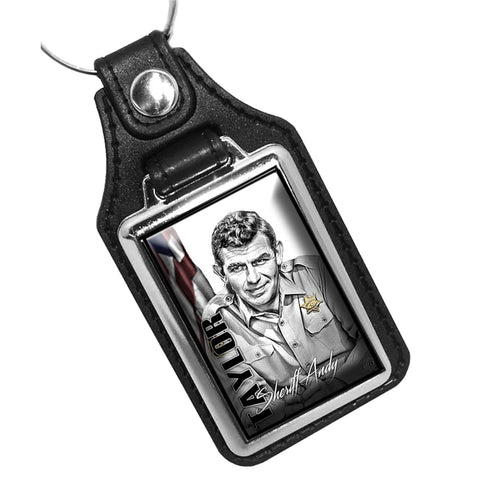 Mayberry Sheriff Dept. Sheriff Andy Taylor Leather Key Ring