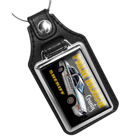 Palm Beach County Sheriff Department Crown Vic Patrol Car Leather Key Ring