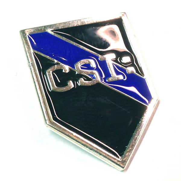 Thin Blue Line Police Sheriff CSI Crime Scene Investigator Firearms - Shield Shape Metal Lapel Pin