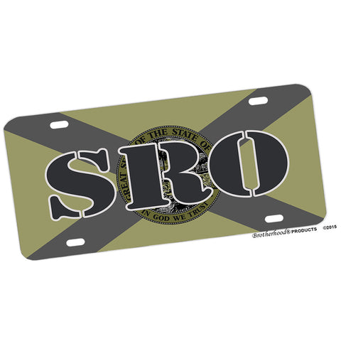 Florida State Flag SRO Subdued Design Aluminum License Plate