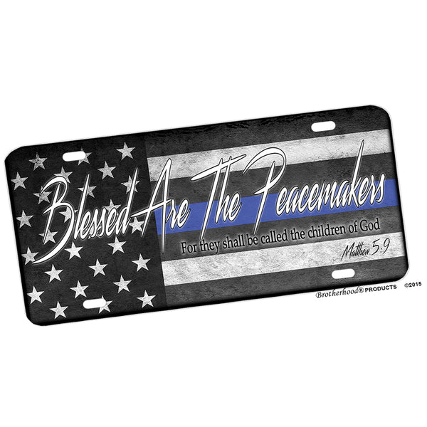 Blessed Are The Peacemakers Matthew 5:9 Aluminum License Plate