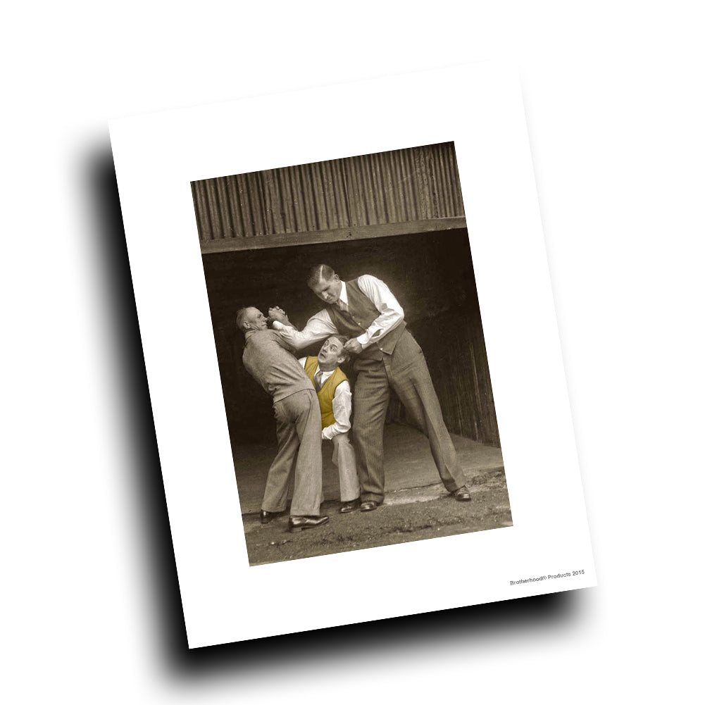 Self Defense Demonstration Vintage Design 8x10 Color Print