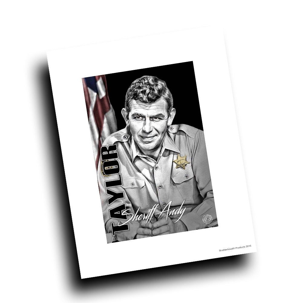 Mayberry Sheriff Department Sheriff Andy Taylor Design 8x10 Color Print
