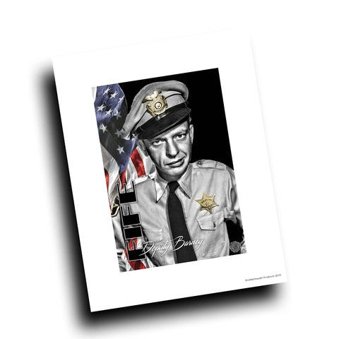 Mayberry Sheriff Department Deputy Barney Fife Design 8x10 Color Print