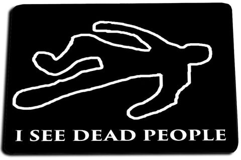 Two Door Mats - CSI Crime Scene Investigator Chalk Body Outline