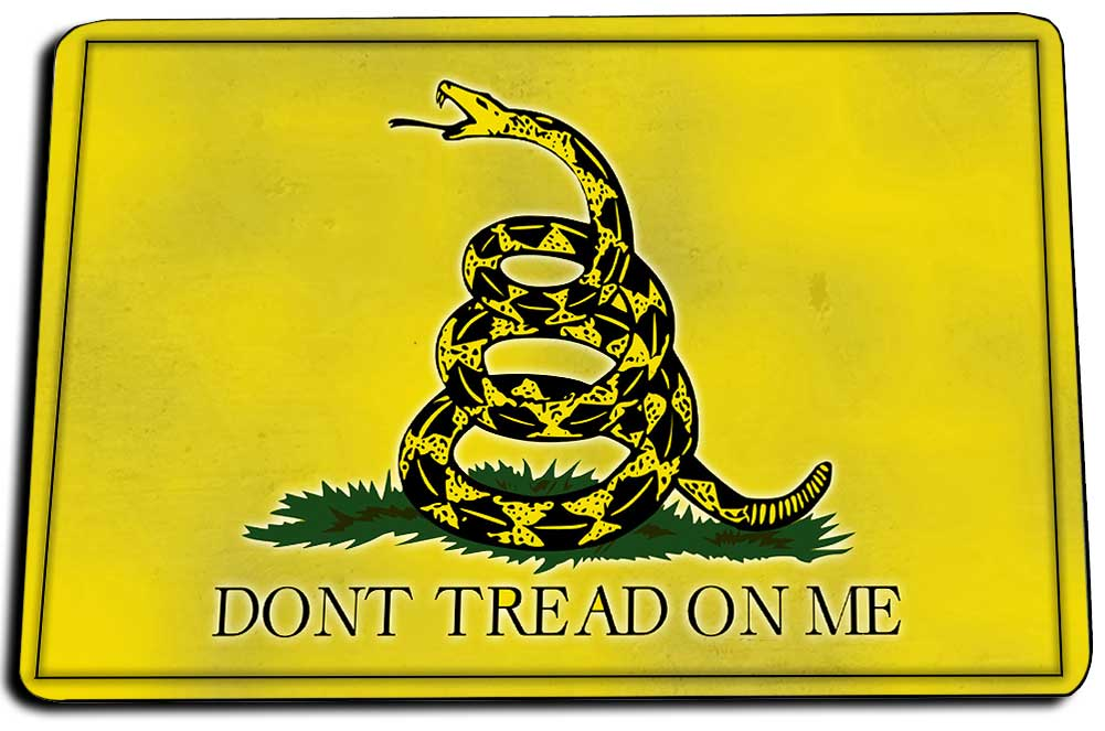 Two Door Mats - Don't Tread On Me Gadsden Rattlesnake Flag Design