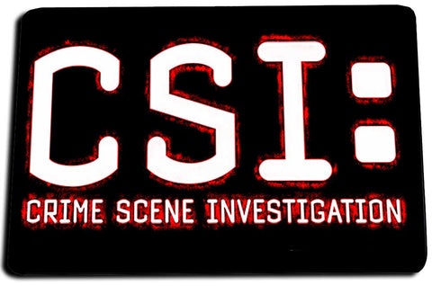 Two Door Mats - Red Black CSI Crime Scene Investigator