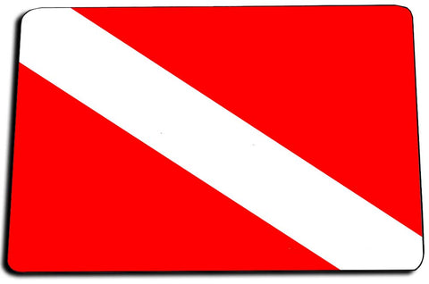 Two Door Mats - International Red White Dive Flag