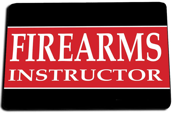 Two Door Mats - Red and Black Firearms Instructor Design