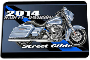 Two Door Mats - Thin Blue Line 2014 Harley-Davidson Street Glide