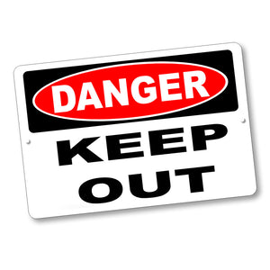"Firearms Safety Sign Danger Keep Out 12x8"" Aluminum Sign"