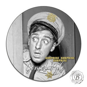 "Mayberry Sheriff Department Deputy Gomer Pyle 11.75"" Aluminum Circle Sign"