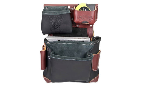 Black Left Handed Building Leather Fastener Bag B5611LH