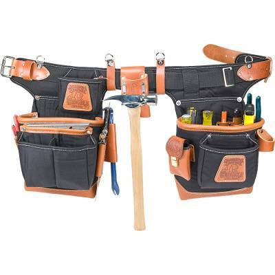 Black Adjust-to-Fit FatLip Nylon Tool Belt Set 9850