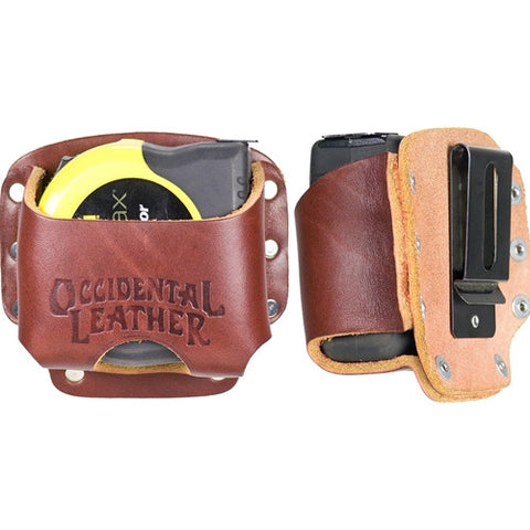 Clip-On Leather Tape Holster 5046