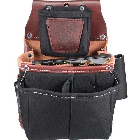Belt-Worn Fastener Bag with Divided Nylon Double Bag 5564