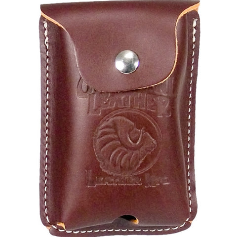 Clip-on Leather Construction Calculator Case 6568
