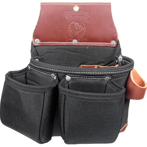 Occidental Leather B8017DBLH Black Left Handed OxyLights 3 Pouch Tool Bag